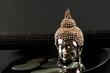 Asien Still-Leben mit Buddhakopf