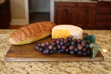 Bread Cheese & Grapes