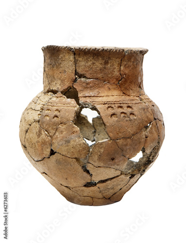 Ancient prehistoric broken pot