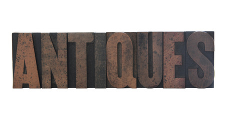 antiques in letterpress wood type