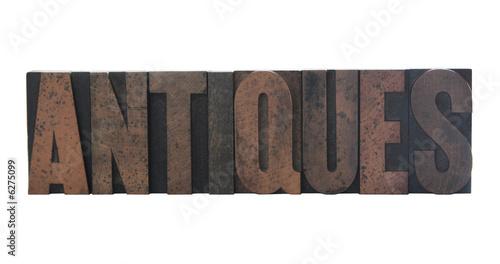 antiques in letterpress wood type