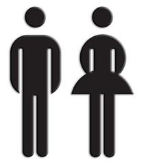 Toilette, Mann, Frau