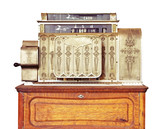 Vintage cash register.  Clipping path included. poster
