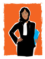 Jeune femme avocate