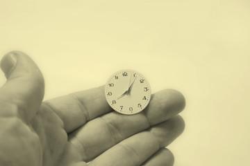 el tiempo en las manos