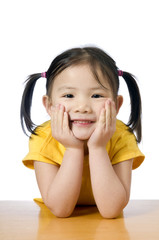A young asian american girl smiling.  Education, Future