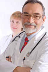 Male and female medical professionals