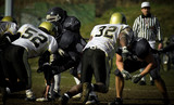 football américan touch down casque équipe sport terrain poster