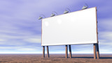 blank billboard to place your own advertising poster