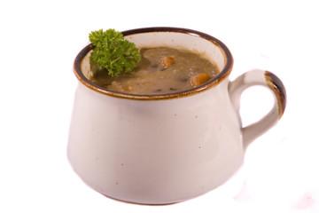 Isolated Mug of Tasty Soup
