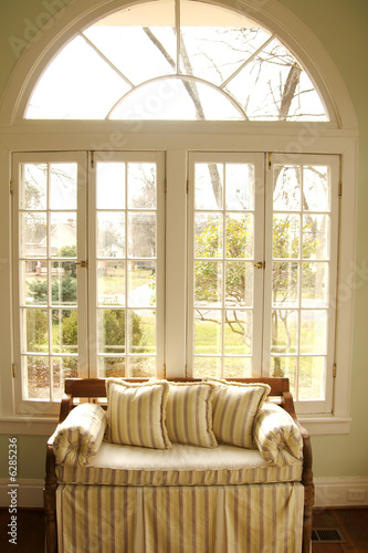 couch in window light