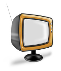 Old fashioned TV with antenna from another era