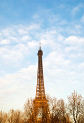 The Eiffel Tower in nightfall - paris France