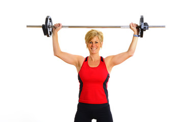 Health and Fitness Woman with Weights