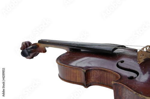 a fragment of Violin isolated on white