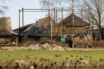 old traditional farm