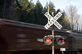 Rail road crosiing warning lights