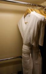 hanging bathrobes