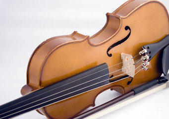 Close-up of Violin and Bow