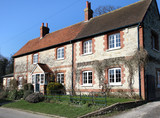 Traditional Brick and Flint English Village House