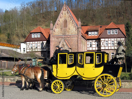 Leinwandbild Motiv Postkutsche in Stolberg