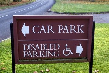 sign. car park. disabled parking