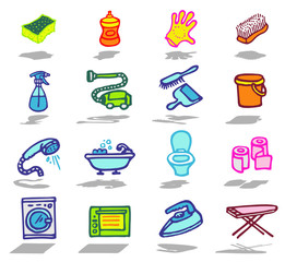 color icons - housecare