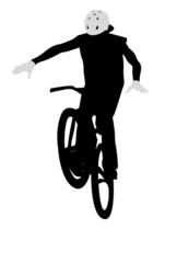 BMX jump silhouette