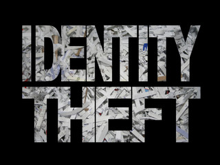 Identity theft with shredded paper