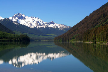 Mountain and lake reflection in Canada