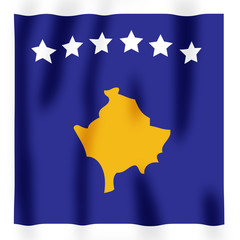 Rippled image of the new Kosovan flag.
