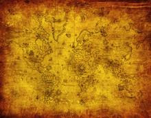 alte Karte der Welt