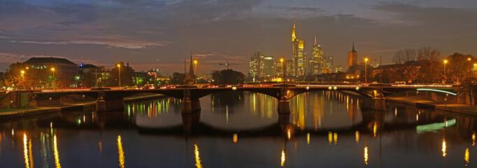 Germany, Frankfurt am Main, Nachtaufnahme