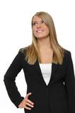 Teen girl wearing formal attire smiling poster