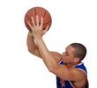 homme shootant au basket