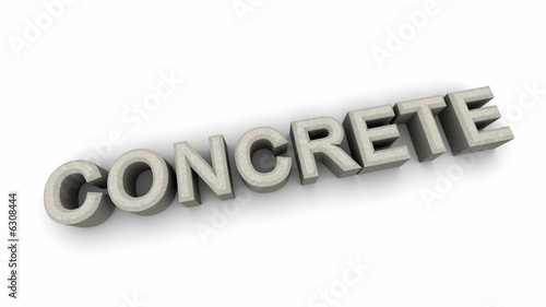 Concrete 3D Text #2
