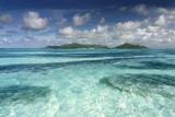 ile paradis seychelles lagon turquoise exotique tropique plage poster