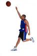 joueur de basket lancant le ballon