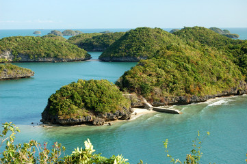 Arial view from Govenors Island, Hundred Islands resort