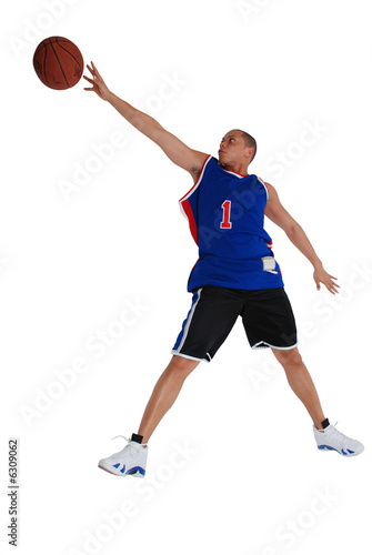 joueur de basket lançant un ballon