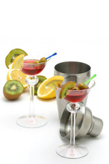 coctails and fruits