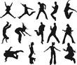 silhouettes-humain en mouvement-vecteur