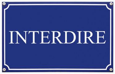 interdire