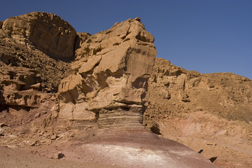 Israel, Timna park, desert in the winter