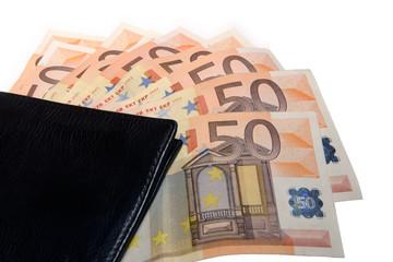 Cartera con billetes de 50 euros