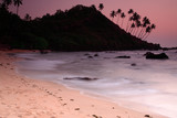 Stunning Cola beach sunset in Goa India. poster