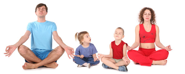yoga family of four