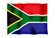 Rippled image of the South African flag.