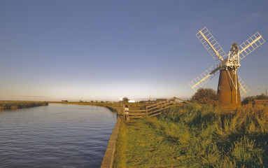 norfolk broads east anglia national park england