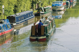 grand union canal baddesley clinton warwickshire  poster